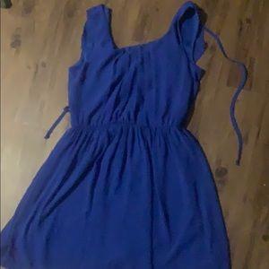 A. Byer blue ruffle dress